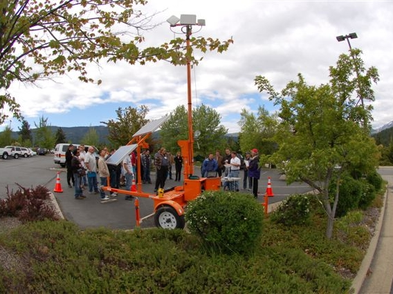WTI demonstrated TMC-TMS communications with a portable ITS trailer and communications set-up.