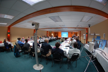 Conference room during 2008 technical presentations.